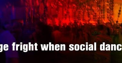Stage fright when social dancing?